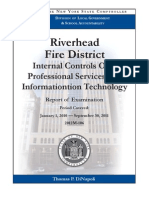 Riverhead Fire District audit report by NYS OSC