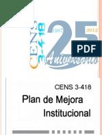 Plan de Mejora Institucional CENS 3-418