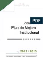 Plan de Mejoramiento Institucional 2012 2013 CENS 3-418