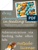 drug administration in feeding tubes in ICU
