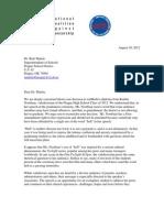 Letter to Prague Schools