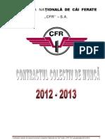 Contract Colectiv de Munca CN CF CFR SA 2012 2013