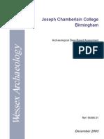 Joseph Chamberlain College Birmingham
