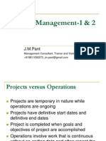 Day 1 and 2 Project Management