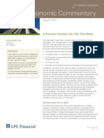 Weekly Economic Commentary 8.27.2012