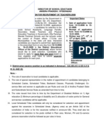 Dsc 2008 Vacancies and Notification