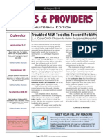 Payers & Providers California Edition – Issue of August 30, 2012