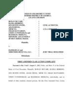 Mercedes Fuel Tank Class Action - Amended Complaint - FINAL