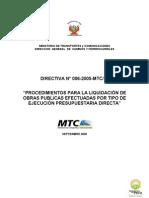 Procedimiento Para Liquidacion Obras Publicas Por Administracion Directa