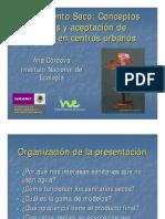 Saneamiento Seco Conceptos básicos y aceptación de usuarios en centros urbanos