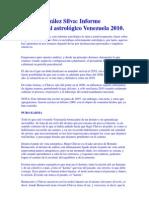 Pedro González Silva_ Informe confidencial astrológico Venezuela 2010.