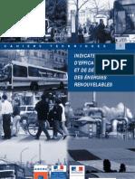 FR Idd_Bio-énergies & CO2 _Indicateurs régionaux RARE2004