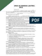 Concurso Contrato 2012