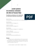 2006 Rovira et al Caracterización química de cerámicas coloniales del sitio de Panamá Viejo