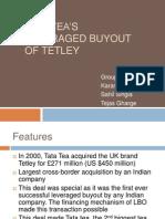 Tata Tea's Leveraged Buyout of Tetley