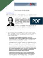 6 Ensinamentos de Steve Jobs