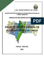 Áreas de Régimen Especial del Departamento de Tarija, Bolivia