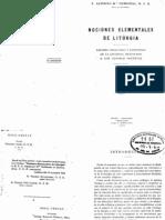 Gubianas, Alfonso - Nociones Elementales de Liturgia