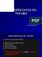 Hemoderivados en Trauma2009.Ppt Completo