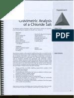 Lab 2 (Gravimetric Ananlysis of Chloride Salt)