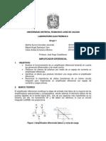 Laboratorio Amplificador Diferencial