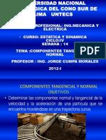 Semana 14 Estatica Dinamica Componentes Tangencial y Normal
