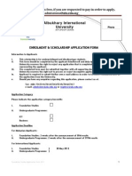 AiU Application Form