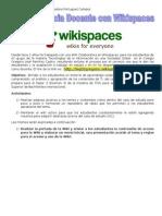 Propuesta Herramienta de Wikispaces