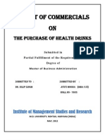 Research Project - Impacts of Commercial Health Drinks