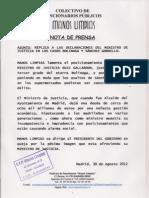 Nota Prensa Ministro de Justicia