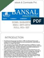 Bansal Finstock & Comtrade Pvt