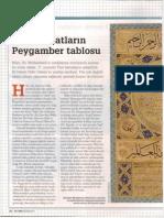 Türk hattatların Peygamber tablosu Hilye-i Şerif
