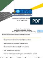 E-Office Presentation by Mizoram NIC