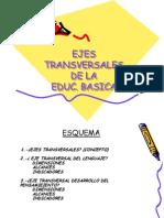 Ejes Transversales de la Educación Básica