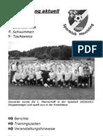 Vereinszeitung Nr. 20 (August 2011)