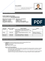 Comity Sample Format of Resume (Applicants)