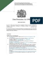 B01 Data Protection Act, 1998