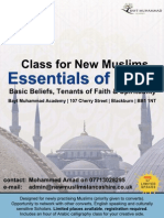 Essentials of Islam - Class for New Muslims