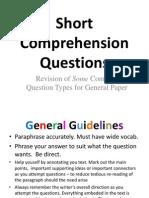 Gp Compre Question Types Revision
