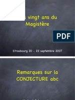 Schappacher - 2007 - Remarques Sur La Conjecture ABC