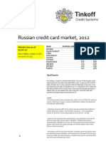 Russian credit card market, first half of 2012