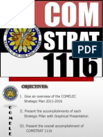 COMELEC's Strategic Plans frm 2011 to 2016