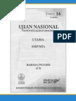 Soal UN SMP Tahun 2011 b Inggris(p16)
