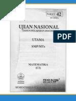 Soal UN SMP Thn 2011 Matematika
