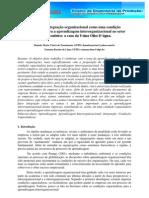 Simpep - O papel da integração organizacional como uma condição capacitadora para a aprendizagem interorganizacional no setor sucroalcooleiro o caso da Usina Olho D'água.
