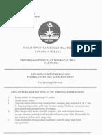 Percubaan PMR 2012 KHB(PK) Melaka