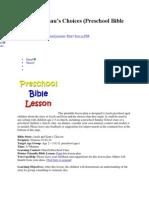 Jacob and Esau Preschool Lesson
