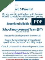 Brookland Middle School - School Improvement Team Flyer
