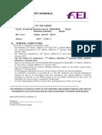 Avance Final Aecca FEI - 2012 Endurance Draft Schedule Brunete 8.9.2012