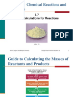 6.7 Mass Calculations for Reactions
